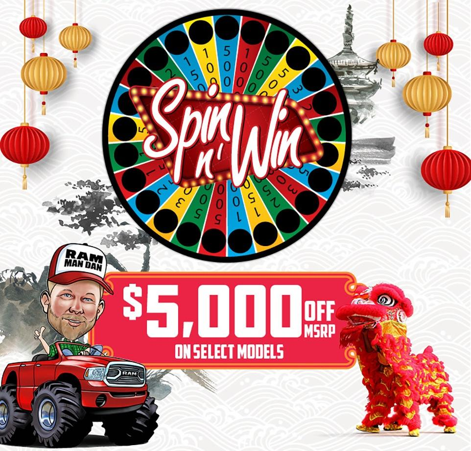 Chinese NYE Spin N Win