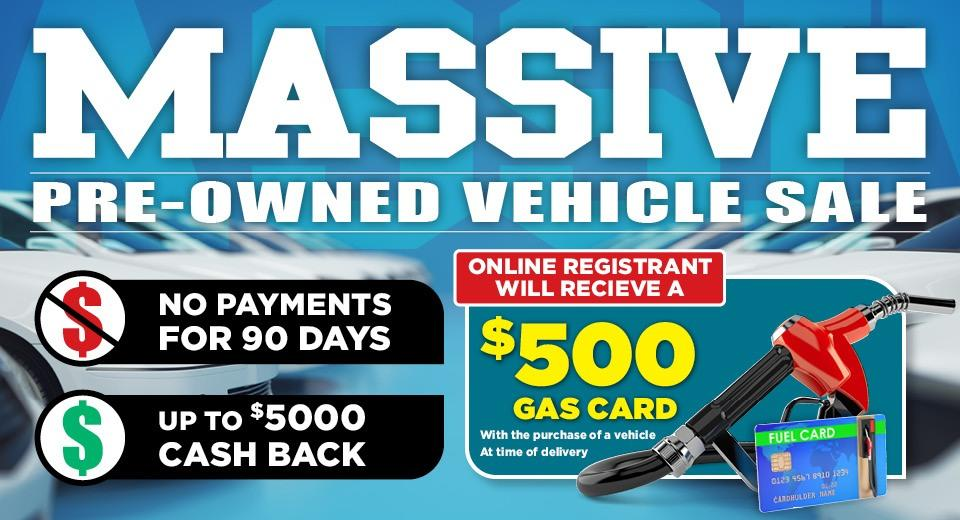 Massive Pre-Owned Sales Event