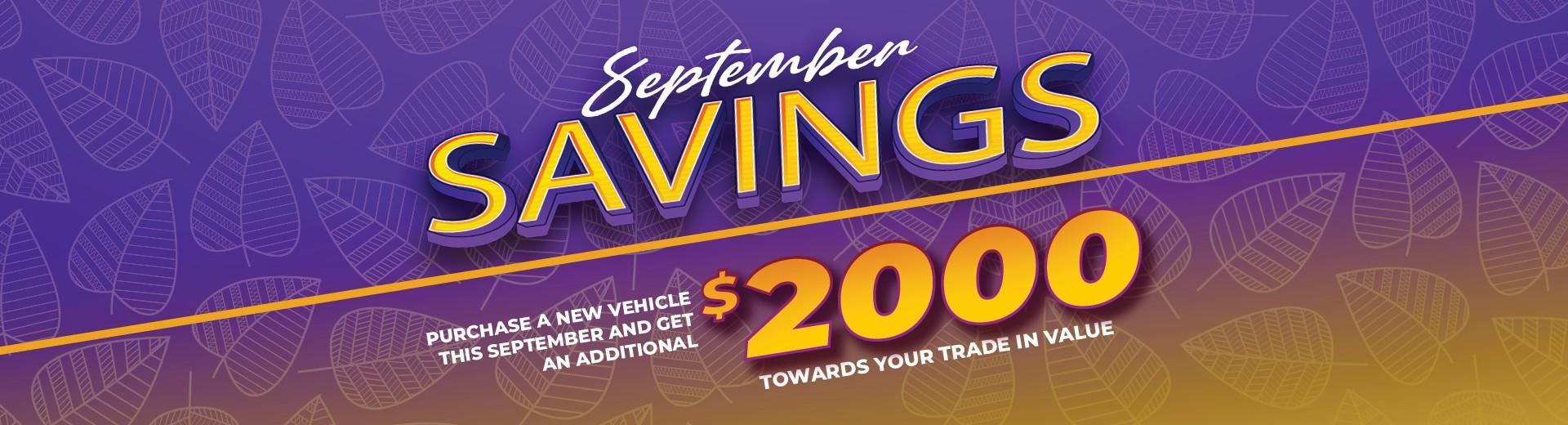September Savings at Maple Ridge Chrysler Jeep Dodge in 11911 West St